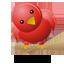 Red Twitter Bird 3
