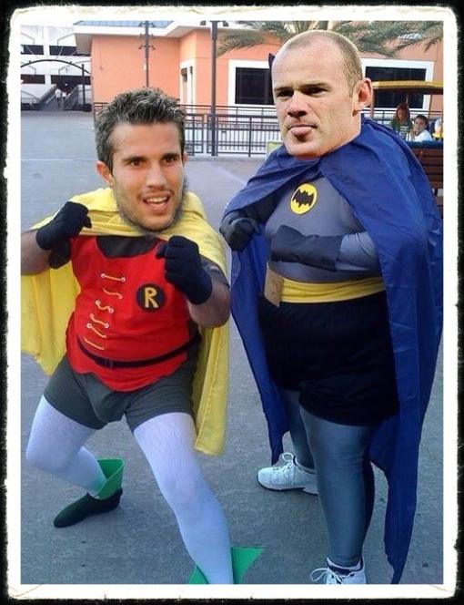Fatman & Bobbins BAtman & Robin van Persie Rooney