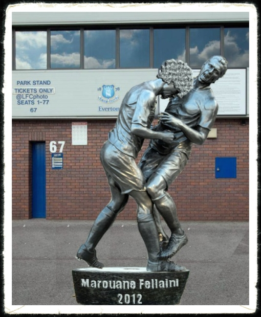 Fellaini Statue Everton Shawcross Headbutt