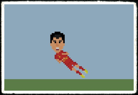 Pixelated Luis Suarez Pixelated Suarez Goal-Scoring Celebration!
