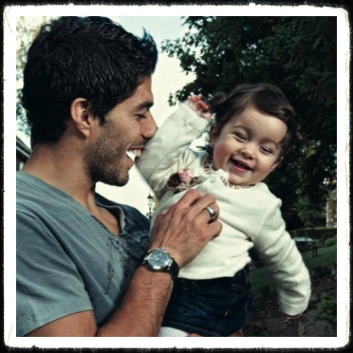 Luis Suarez and Delfina