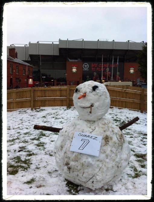 Luis Suarez Snowman