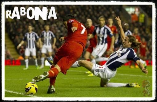 Luis Suarez Rabona Liverpool FC West Brom