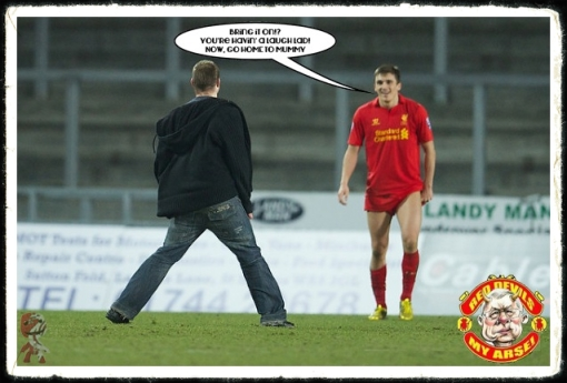 Adam Morgan pitch invader Liverpool U21 Manchester utd. flares racist chants racism Sterling