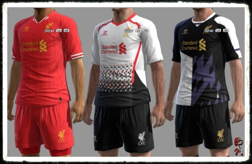 Liverpool 2013 -2014 Home Away Third Kit Warrior