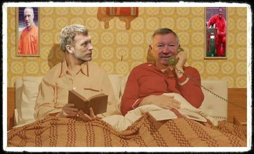 Ferguson and Moyes Demento and Gollum in bed