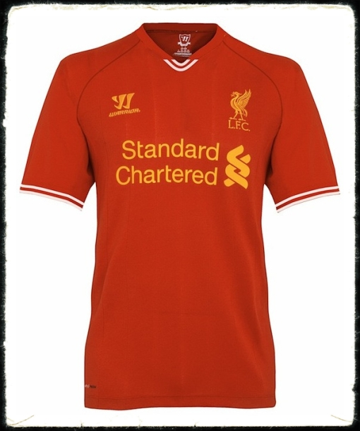 Liverpool FC home kit shirt 2013 2014 warrior