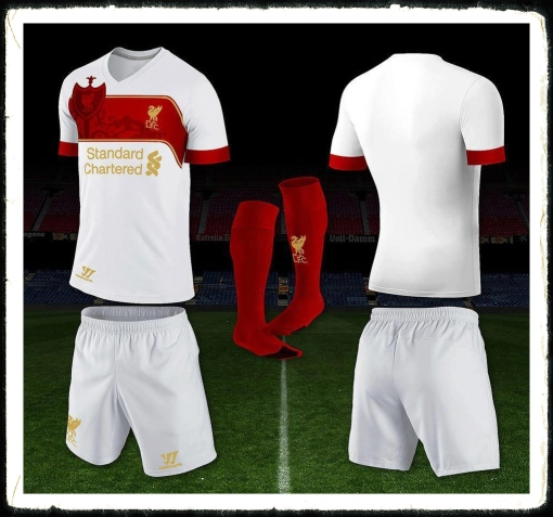 LFC Away Shirt Kit Warrior New White 2013 - 2014