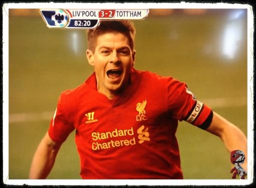 Steven Gerrard 3-2 Spurs Tottenham penalty scores goal
