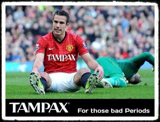 Bad Periods Robin van Persie Tampax tampon