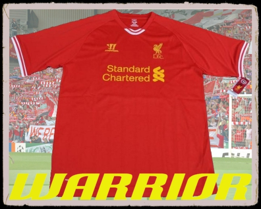 LFC New Home Top Kit Shirt 2013-2014 Warrior Liverpool FC