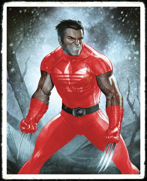 Liverpool FC Wolverine Marvel Comics