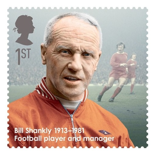 Legendary Liverpool boss Bill Shankly takes his place among 10 Great Britons in special Royal Mail stamp collection