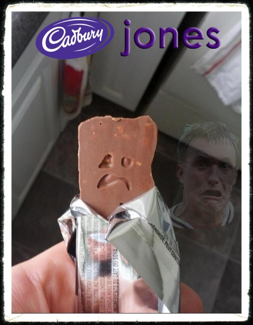 Phil Jones face Manchester United chocolate bar