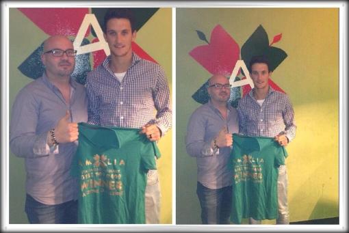 Liverpool FC Luis Alberto Signs Luis Alberto at Amalia Italian Restaurant