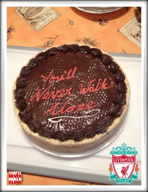 YNWA You'll Never Walk Alone Cake