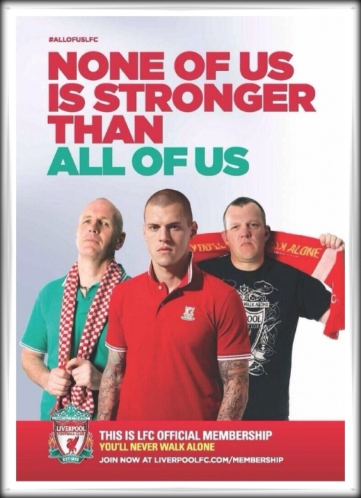 Liverpool FC official membership None Of Us Is Stronger Than All Of Us