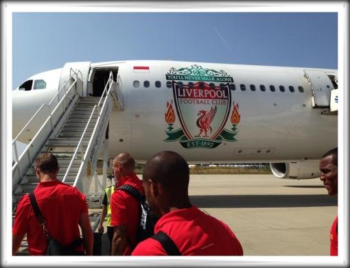 LFC Liverpool FC Garuda Indonesia plane aeroplane tour
