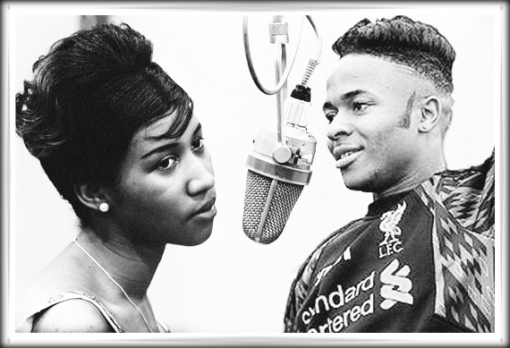 Raheem Sterling hair haircut hairstyle Aretha Franklin