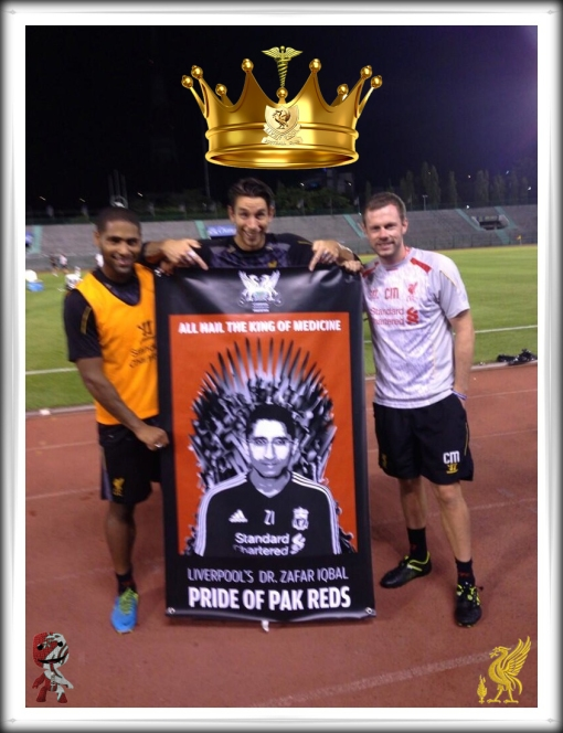 Dr. Zafar Iqbal Banner Glen Johnson Brad Jones Australia
