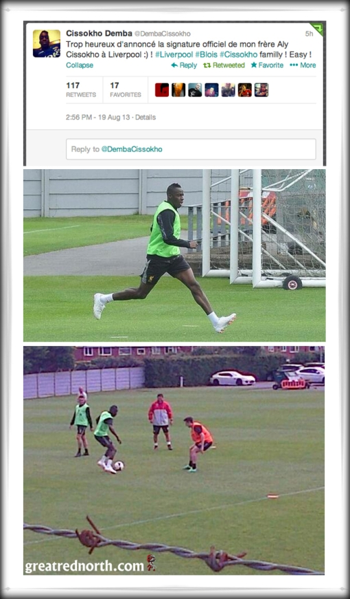 Tweet Aly Cissokho In Training LFC Liverpool FC Melwood