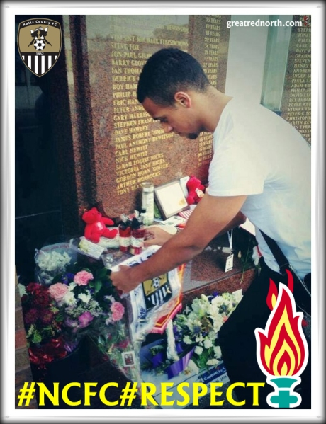 Notts nottighma County REspect Hillsborough Flame JFT96 #NCFC
