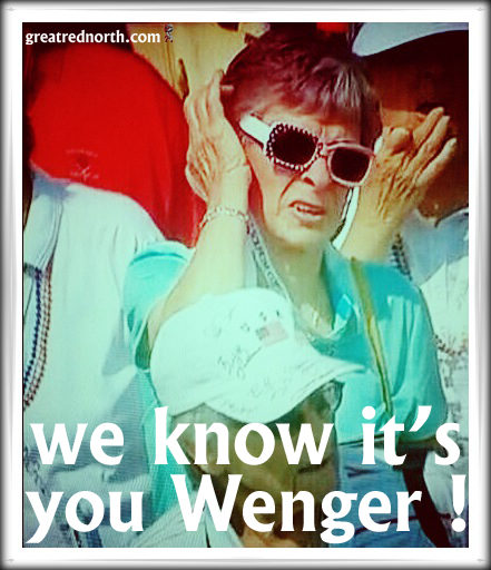Arsene Wenger in Lady Disguise Arsenal