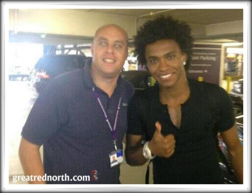 Willian  in London Heathrow LHR Liverpool Spurs Tottenham Ayre Levy transfer