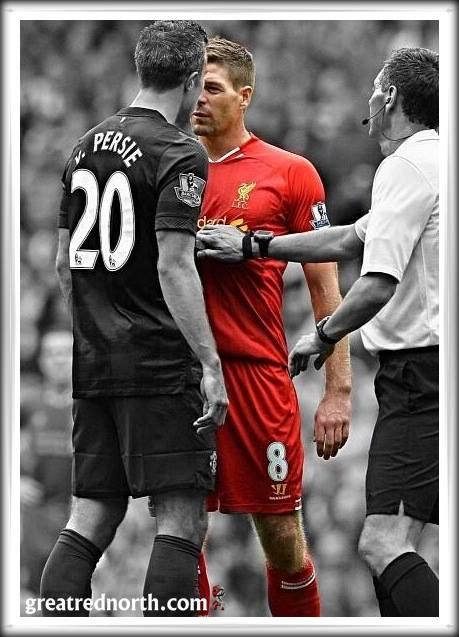Steven Gerrard Robin van Persie stand off challenge