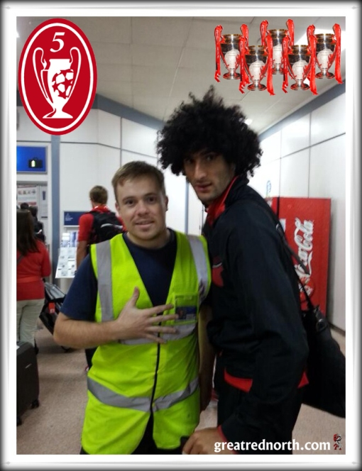 Fellaini 5Times Glasgow airport Liverpool FC