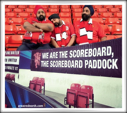 Manc Scoreboard Paddock Section Singing Old Trafford