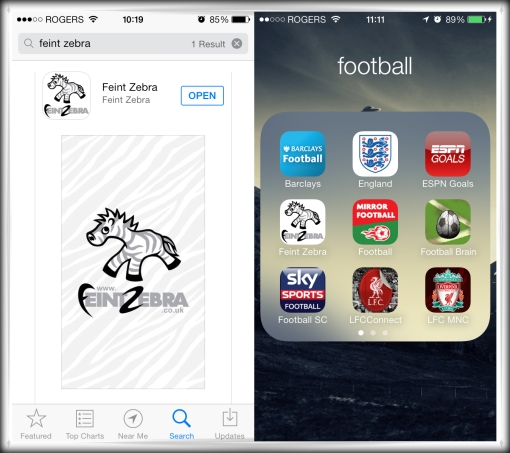 Feint Zebra iOS Apple iPhone App Store iPad Google Android app Play