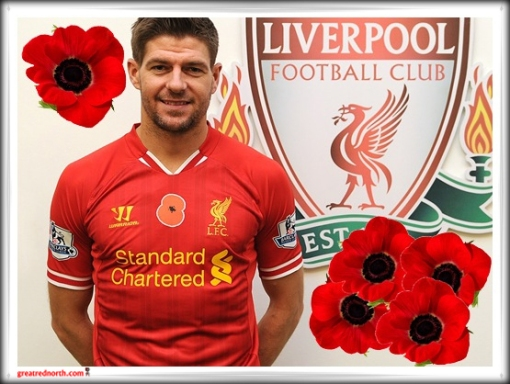 Steven Gerrard Liverpool FC Poppy Remembrance Day