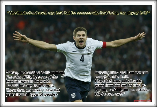 Steven Gerrard top top player Ferguson quote 107 England caps