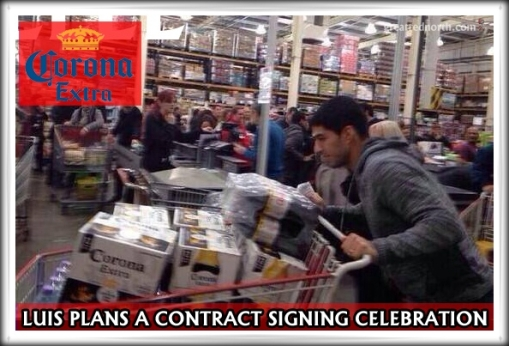 Luis Suarez Costco shopping Corona