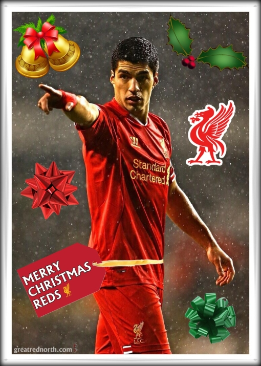 Merry Christmas Reds Liverpool FC Luis Suarez signs new long-term contract