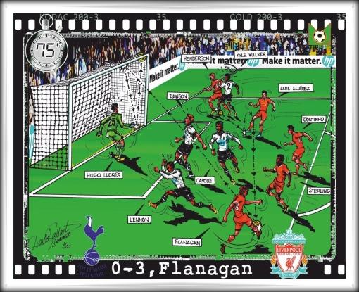 Flanagan Flano Goal - Tottenham Cartoon