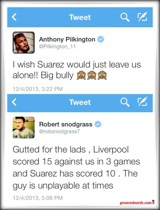 Norwich Tweets Suarez Pilkington Snodgrass Twitter
