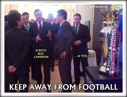 David Cameron Graeme Le Saux Premier League Football Trophy Chinese