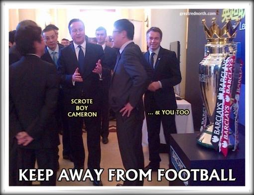 David Cameron Graeme Le Saux Premier League Football Trophy Chinese
