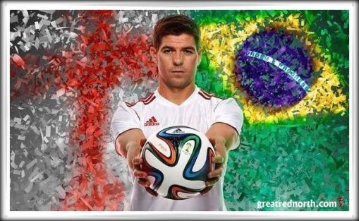 Stevie G Steven Gerrard adidas Barusca World Cup Brazil 2014