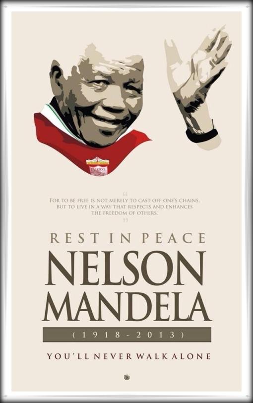 YNWA Nelson Mandela Liverpool FC