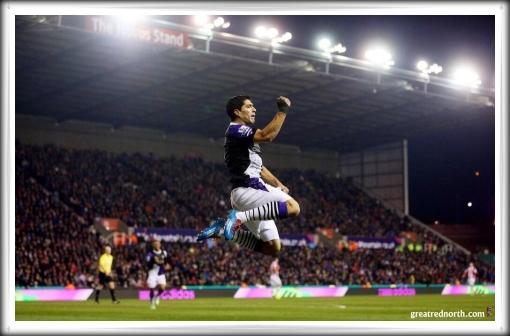 Luis Suarez Stoke Away Goal