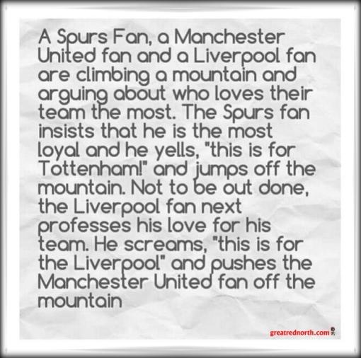 Mountain Climbing Man Manchester Utd. United joke