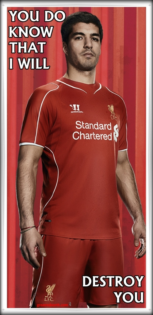 Luis Suarez New Liverpool Kit Shirt 2014 2015