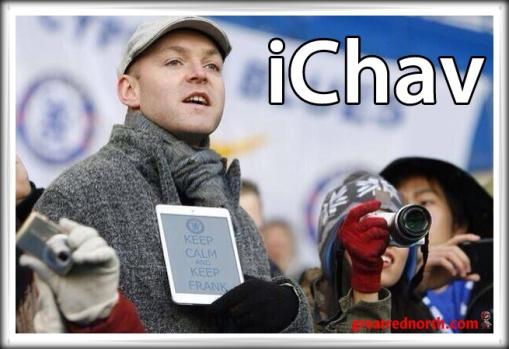 iChav Chelsea fan iPad Plastic
