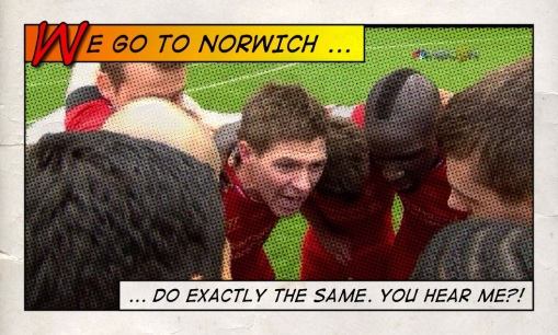 We Go To Norwich ... Do Exactly The Same. Do You Hear Me Steven Gerrard Liverpool 3-2 Man City huddle