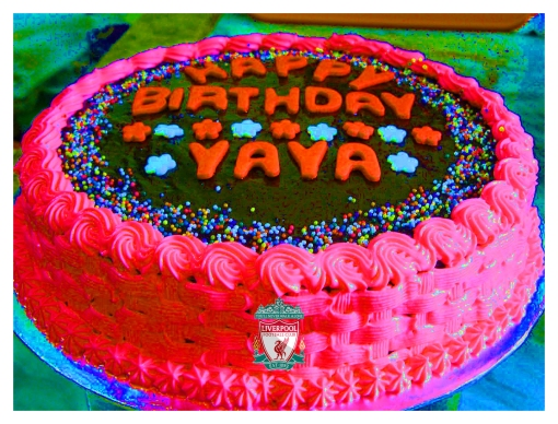 Yaya Toure Birthday cake Liverpool FC