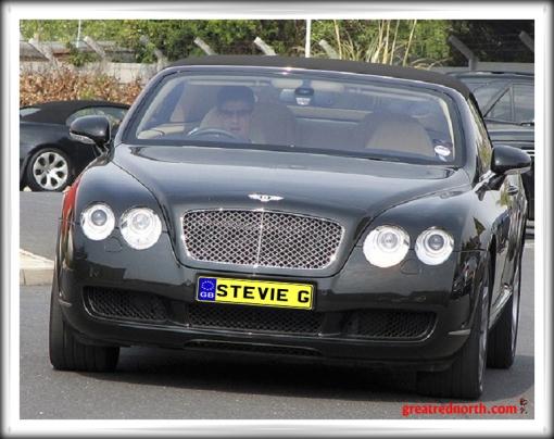Stevie Gerrard Stevie G Car Bentley