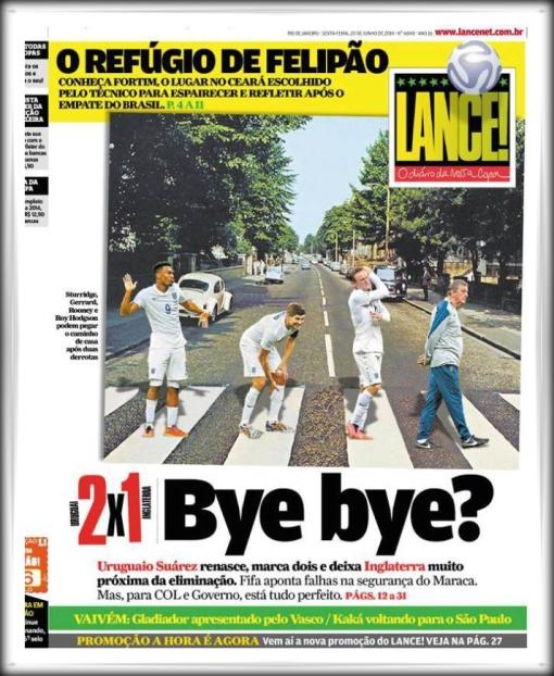 LANCE! Brazil newspaper England Bye Bye Abbey Road Beatles